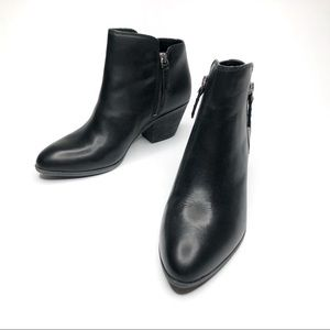 Frye Dual Zip Judith Black Leather Booties 6.5